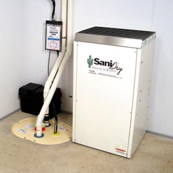 An ENERGY STAR® Rated basement dehumidifier installed in a home in St. Paul