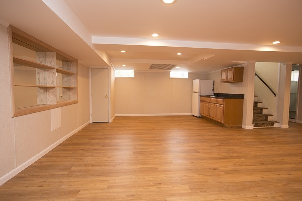 a beautiful finished basement in twin cities